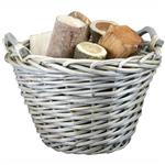 Click here to view Round Natural Willow Log Basket