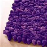 Click here to view Dreamweavers Grape Purple Chamois Pebble Rug