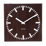 Click here to view Karlsson Double Sided Square Wall Clock Dark Wood
