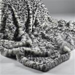 Click here to view Katrina Hampton Grey White Leopard Faux Fur Throw