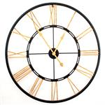 Click here to view Large Roman Gold and Black Skeleton  Wall Clock