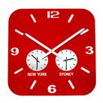 Click here to view Roco Verre Retro City Time Clock Red