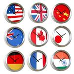 Click here to view Roco Verre Abstract Flag Clocks 26cm