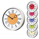 Click here to view Roco Verre Modern Vintage Roman Wall Clock White