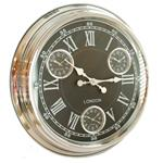 Click here to view Modern Vintage Time Zone Wall Clock Black Dial