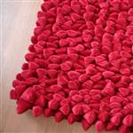 Click here to view Dreamweavers Cherry Red Chamois Pebble Rug