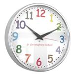 Click here to view 10 Colour Comic Sans Modern Classic School Clock