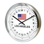 Click here to view 24hr Timezone Flag Modern Classic Clock Polished