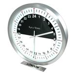 Click here to view 24hr Timezone Day & Night Modern Classic Clock Brs