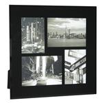 Click here to view Black Bevelled Glass Four Picture Multi Frame
