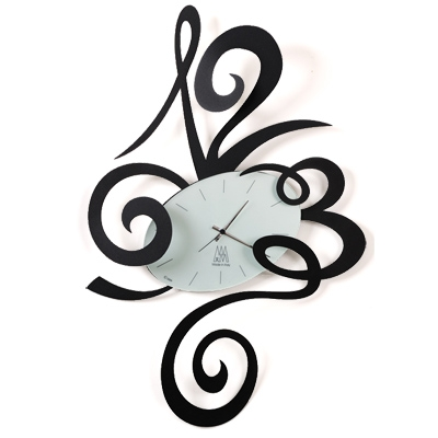Arti & Mestieri Big Robin Clock Black