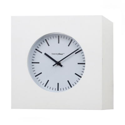Balvi Qubo Wall Clock and Cabinet White