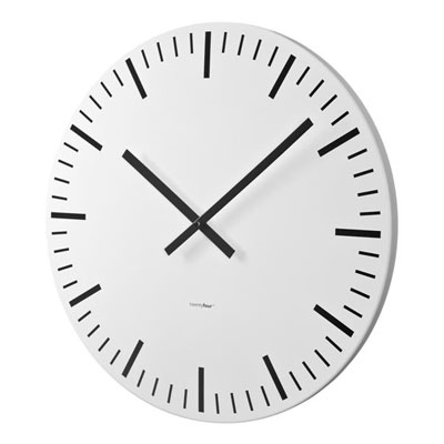Balvi Twenty Four White Station Wall Clock