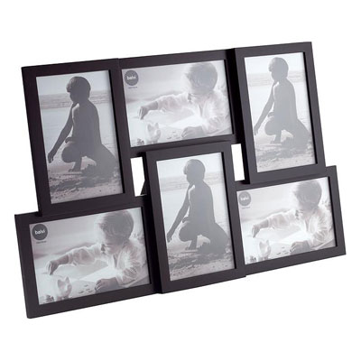 Balvi Isernia Multi Photo Frame Black