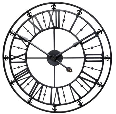 BlackRoman Iron Skeleton Wall Clock
