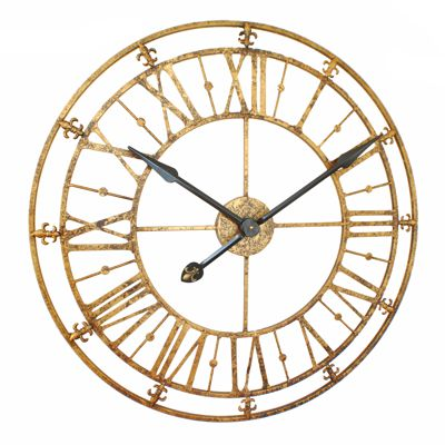 Gold Antique Iron Skeleton Wall Clock