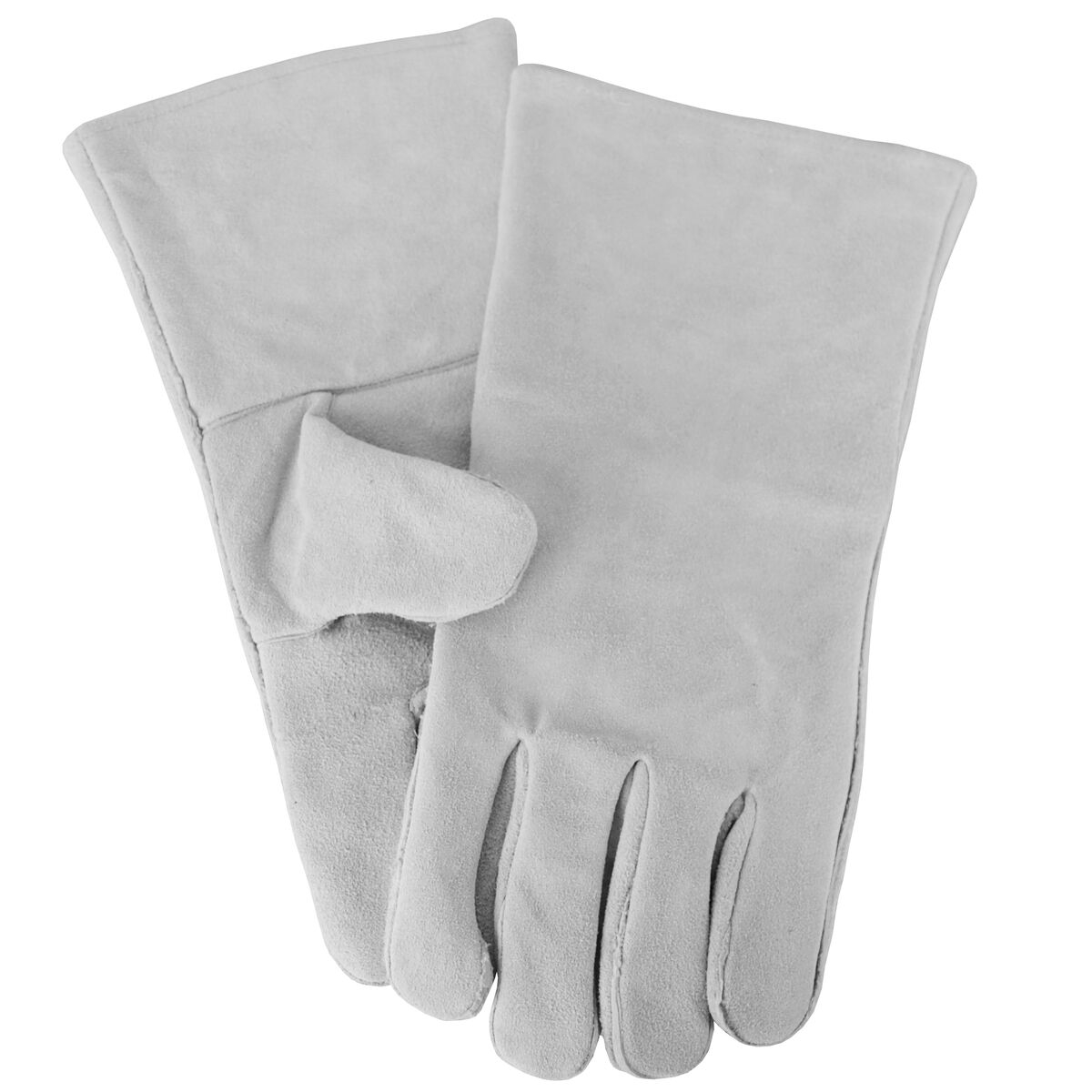 Thick Heat Resistant Fireside Gloves Grey