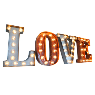 Love Illuminated Carnival Vintage Letter Lights