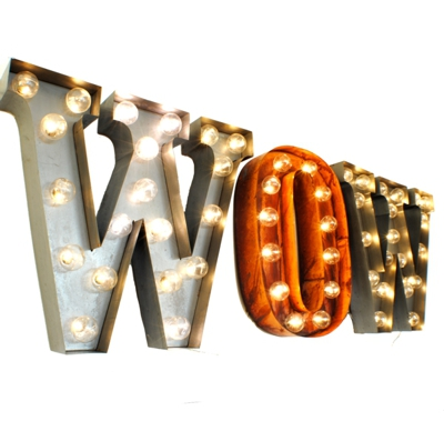 Wow Illuminated Carnival Letter Wall Lights