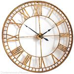 Large Roman Giant Vintage Gold Skeleton Wall Clock