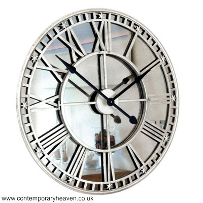 Online Uk Antique Mirror Iron Roman Skeleton Wall Clock Usa