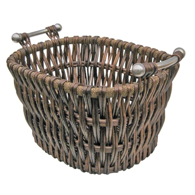 Modern Willow Log Basket Brown