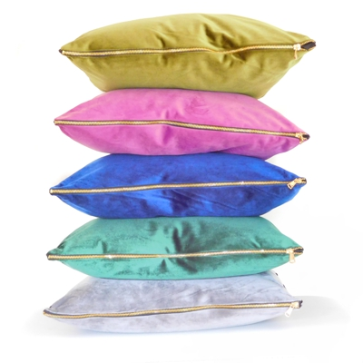 Large Luxury Velvet Cushions in Five Colours