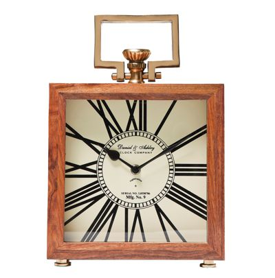 Kare Grandfather Wood Clock