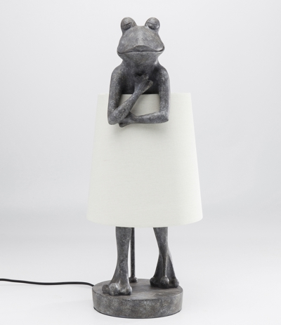 Frog Table Lamp With White Shade