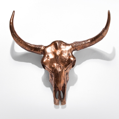 Kare Skull Antler Wall Deco Copper