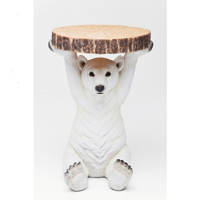 Kare Polar Bear Side Table
