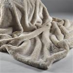 Katrina Hampton Beige Frost Faux Fur Throw