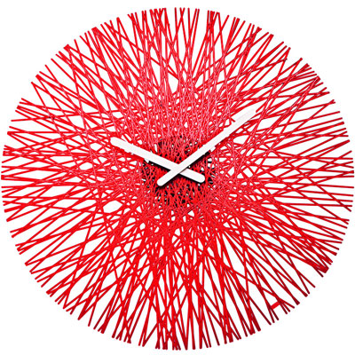 Koziol Silk Acrylic Clock In Three Colours