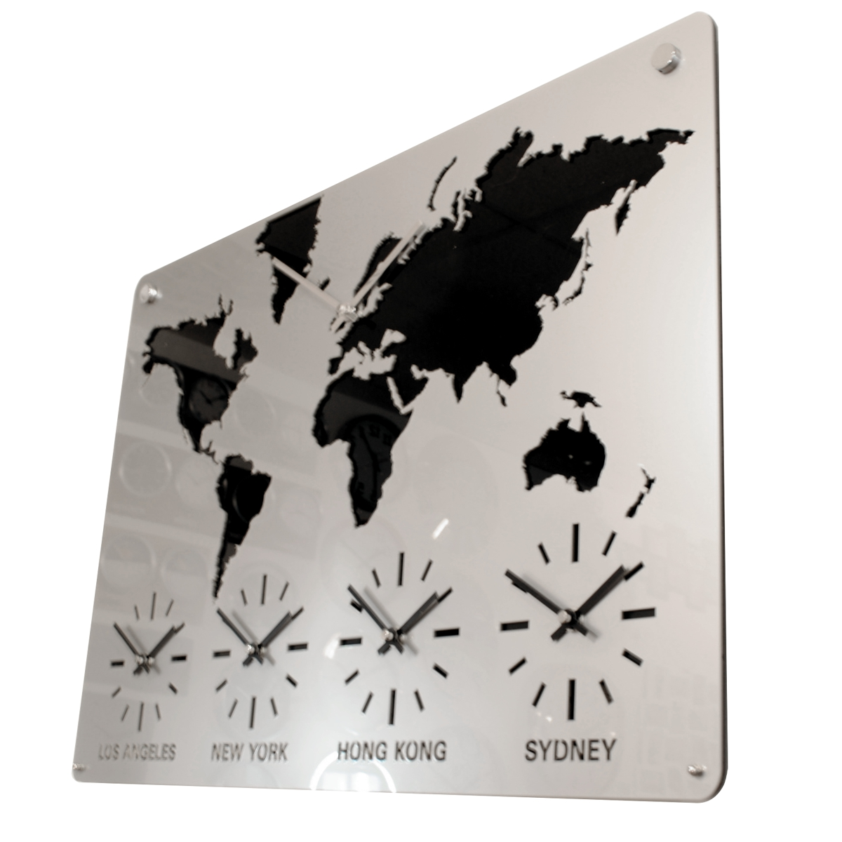 Roco Verre Acrylic Map Clock
