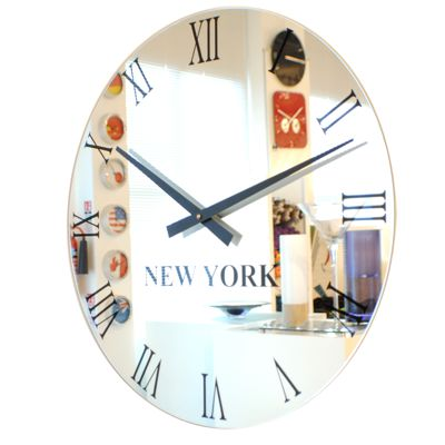 Roco Verre Roman Mirror World Timezone Clock