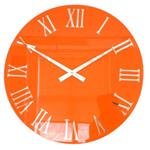 Roco Verre 3D gloss orange roman wall clock