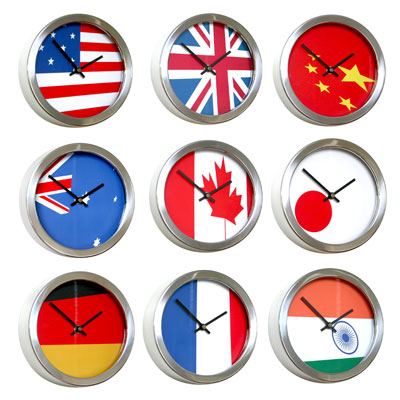 Roco Verre Abstract Flag Clocks 10