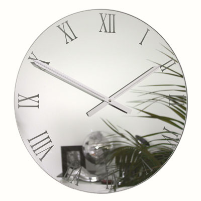Roco Verre Roman Small Mirror Clock