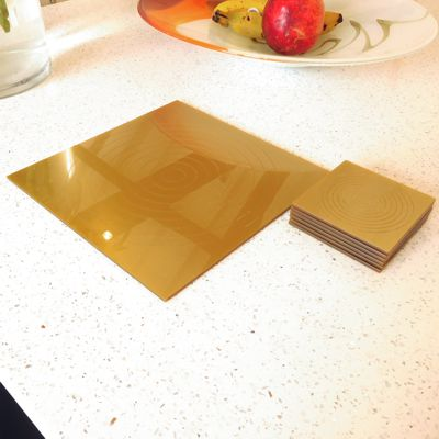 Gold Gloss Circlets Coasters and Placemats