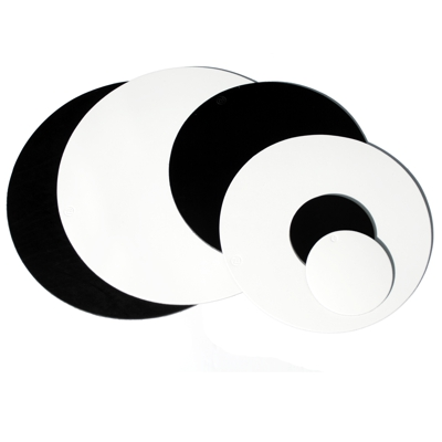 Black And White Real Leather Place mats