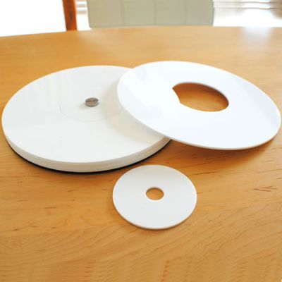 Gloss White Acrylic Polo Placemats and Coaster Set