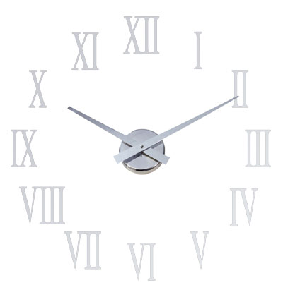 Roco Verre Little Big Hands Clock Chrome