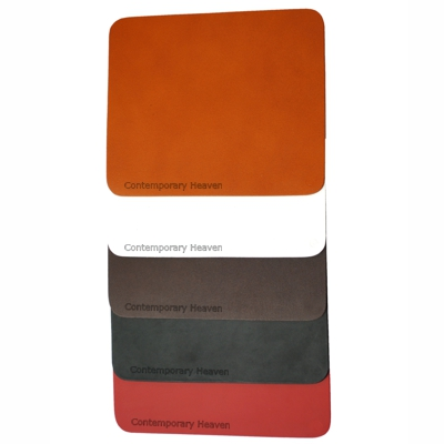 Branded Leather Mousemat Whisky Brown