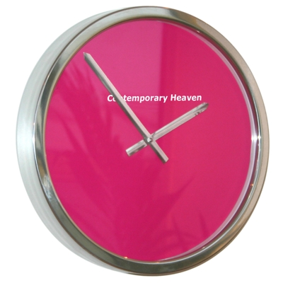 Roco Verre Cerise Block Colour Clock