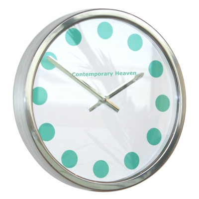 Roco Verre Mint Green Coloured Spot Clock