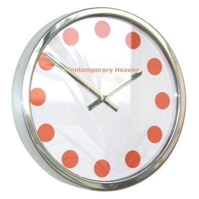 Roco Verre Tango Coloured Spots Clock