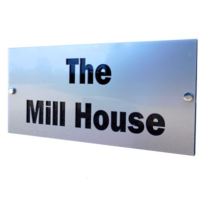Modern Personalised House Signs