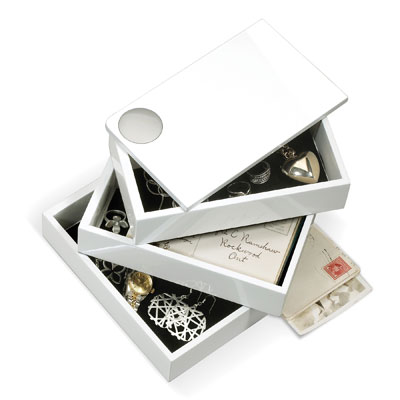 Umbra Spindle Jewellery Storage Box White