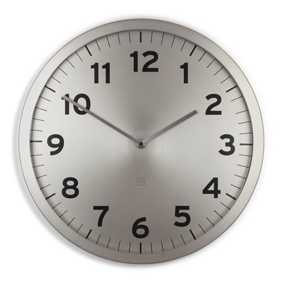 Umbra Anytime Wall Clock Silver