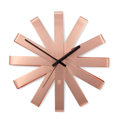 Umbra Ribbon Wall Clock Copper